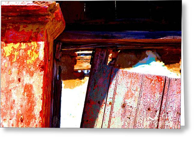 Broken Door by Michael Fitzpatrick Greeting Card by Olden Mexico