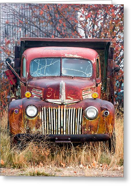 Broken Down Old Abandoned Truck Greeting Card by Todd Klassy