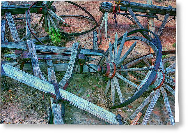 Broken Down Wagon Greeting Card by Garry Gay