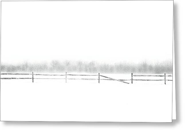 Winters Greeting Cards - Broken Fence Greeting Card by Dan Hayes