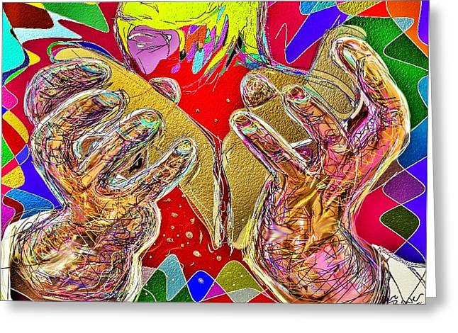 Last Supper Greeting Cards - Broken - For You Greeting Card by Claire Bower