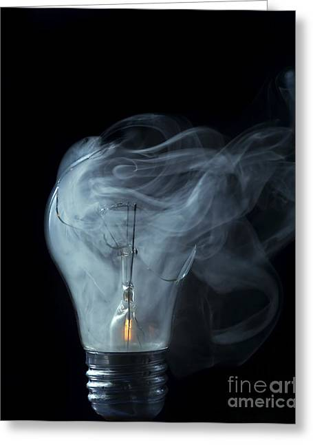 Defects Greeting Cards - Broken Light Bulb Greeting Card by Michal Boubin
