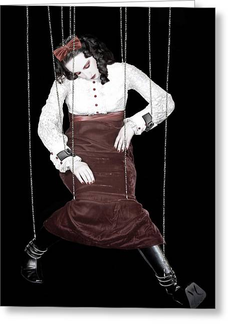 Marionette Greeting Cards - Broken Melody - Self Portrait Greeting Card by Jaeda DeWalt