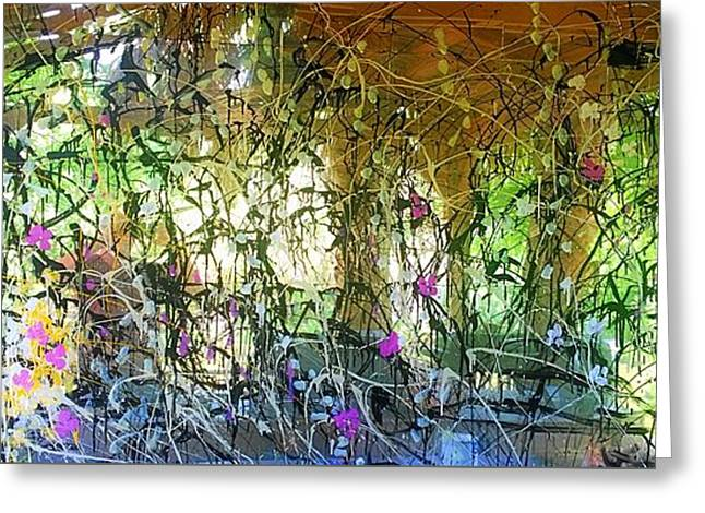 Charlotte Paintings Greeting Cards - Broken Mirrors  Greeting Card by Larry Palmer