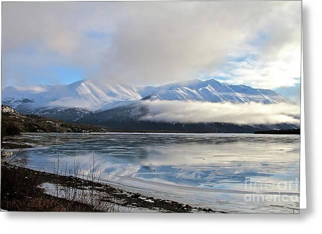 Kenai Lake Greeting Cards - Broken Reflection Greeting Card by Rick  Monyahan