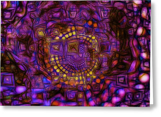 Geometric Digital Art Greeting Cards - Broken Symmetry 2 Greeting Card by Jean-Marc Lacombe