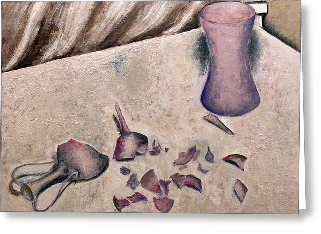 Broken Vase Greeting Cards - Broken vase Greeting Card by Vladimir Kezerashvili