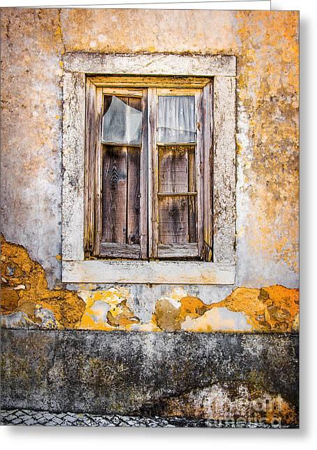 Broken Window Greeting Card by Carlos Caetano