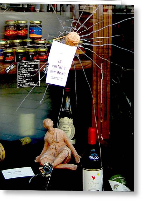Prosecco Greeting Cards - Broken Window Display Greeting Card by Michael Riley