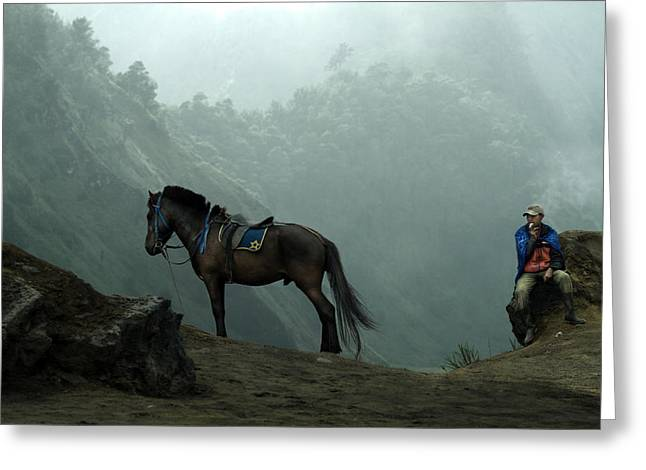 Indonesia Greeting Cards - Bromo Greeting Card by Andre Arment