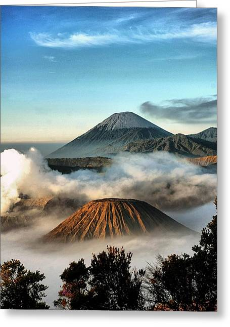 Digital Imaging Greeting Cards - Bromo Mountains Greeting Card by Mario Bennet