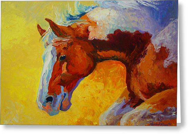 Bronc I Greeting Card by Marion Rose