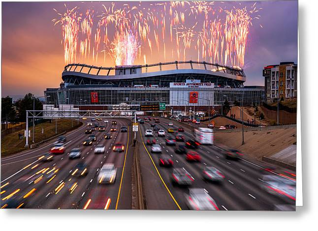 Broncos Win Afc Championship Game 2016 Greeting Card by Darren White