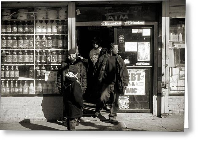 Grocery Store Greeting Cards - Bronx scene Greeting Card by RicardMN Photography