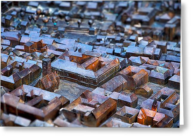 Meeting. Point Greeting Cards - Bronze Scale Model - Zagreb Croatia Greeting Card by Stuart Litoff