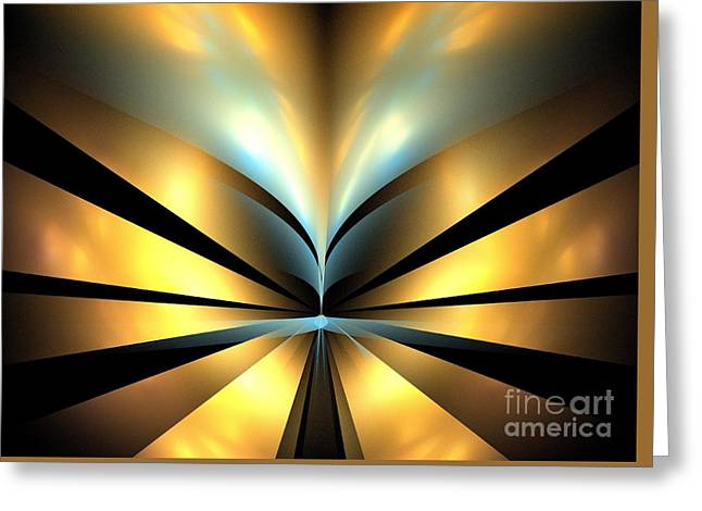 Beige Abstract Greeting Cards - Bronze Shores Greeting Card by Kim Sy Ok