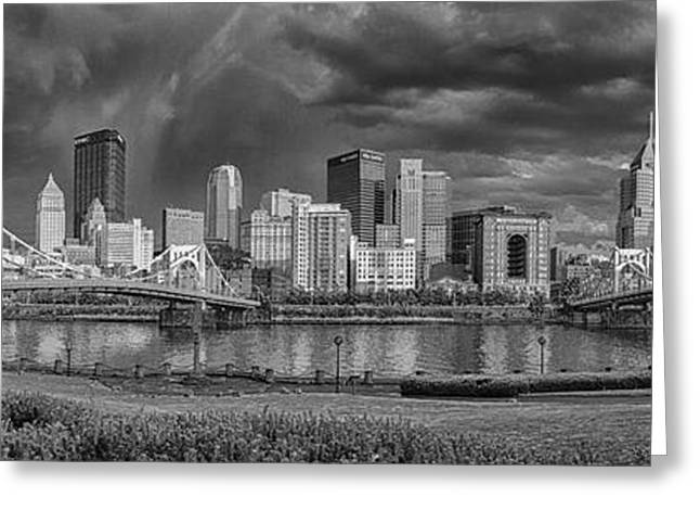 Allegheny Greeting Cards - Brooding Above the Burgh Greeting Card by Jennifer Grover
