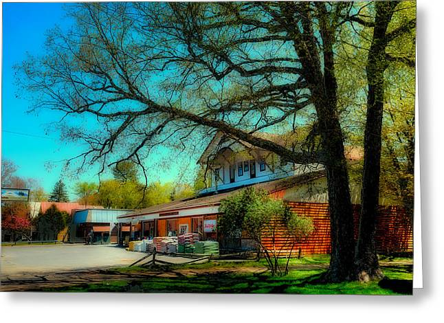 Old And New Greeting Cards - Brookers Hardware Store - Old Forge NY Greeting Card by David Patterson