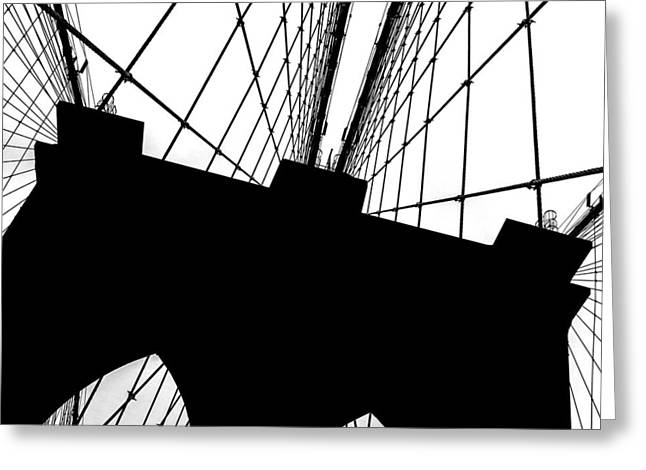 Brooklyn Bridge Architectural View Greeting Card by Az Jackson