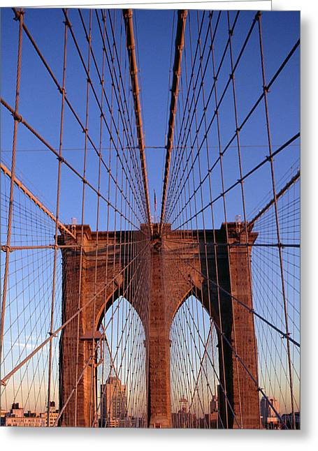 Architectural Landscape Greeting Cards - Brooklyn Bridge Greeting Card by Brooklyn Bridge