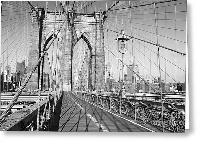 Andrew Kazmierski Greeting Cards - Brooklyn Bridge Deck Greeting Card by Andrew Kazmierski