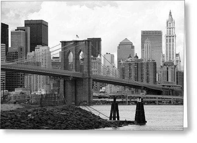 Chuck Kuhn Greeting Cards - Brooklyn Bridge I Greeting Card by Chuck Kuhn