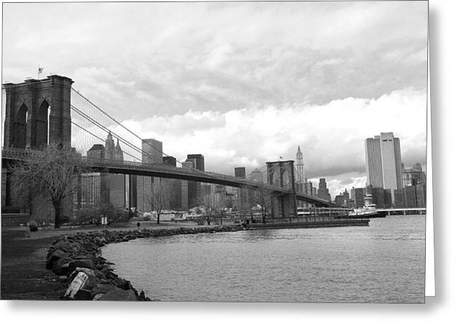 Chuck Kuhn Greeting Cards - Brooklyn Bridge II Greeting Card by Chuck Kuhn