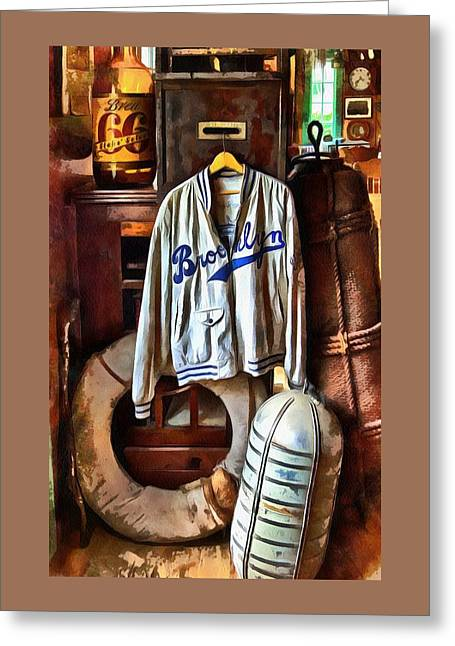 Brooklyn Dodgers Baseball  Greeting Card by Thom Zehrfeld