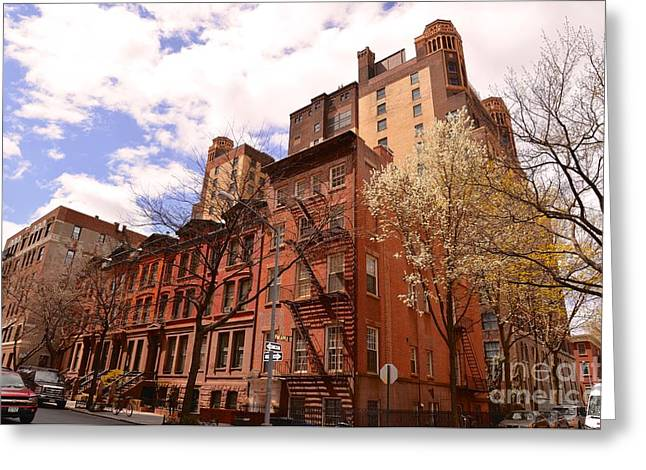City Art Greeting Cards - Brooklyn Iron cast and bricks architecture Greeting Card by Marie Viant
