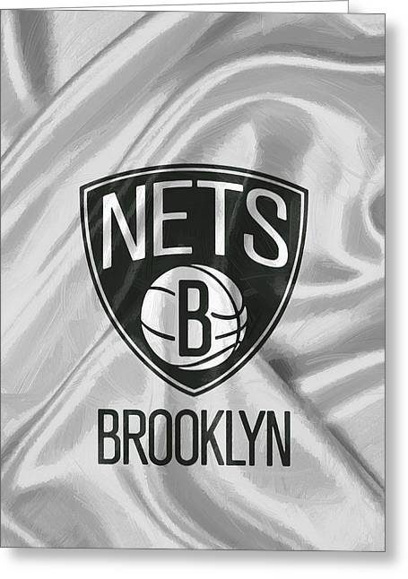 Brooklyn Nets Greeting Card by Afterdarkness
