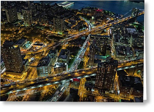 Brooklyn Nyc Infrastructure Greeting Card by Susan Candelario