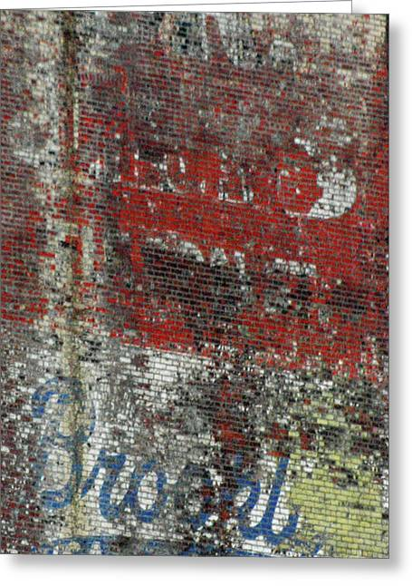 Decor Photography Greeting Cards - Brooklyn Walls - Urban Brick Wall Greeting Card by Anahi DeCanio - ArtyZen Studios