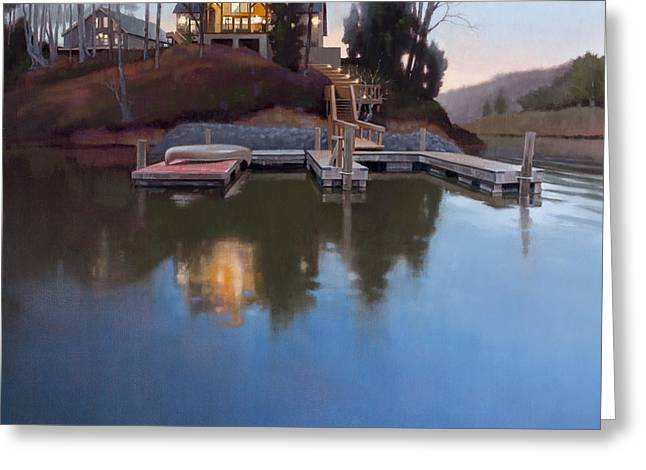 Docked Boats Greeting Cards - Brookview Greeting Card by Todd Baxter