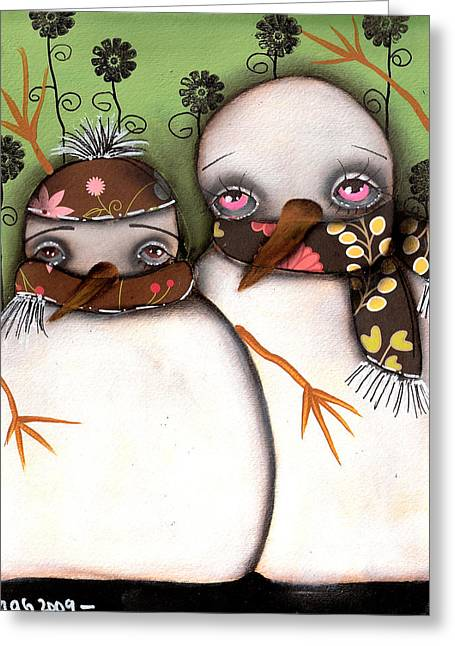 Paiting Greeting Cards - Brothers Greeting Card by  Abril Andrade Griffith