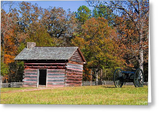 Afternoon Battle Greeting Cards - Brotherton Cabin Greeting Card by Dale Wilson