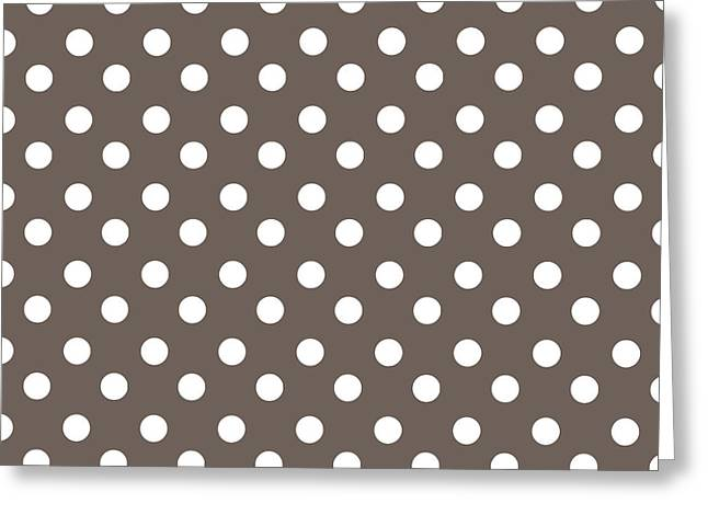 Awesome Tapestries - Textiles Greeting Cards - Brown Choco Polka Dots Greeting Card by Bimbys Collections