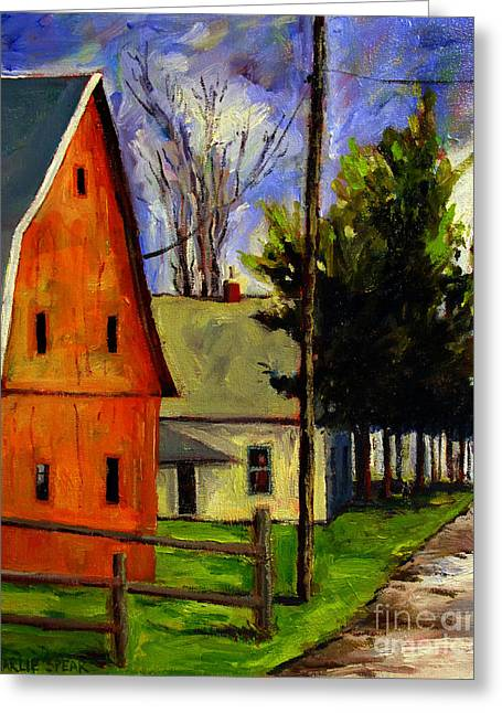 Rural Indiana Paintings Greeting Cards - Brown Egg Man Greeting Card by Charlie Spear