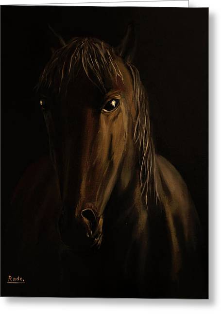 Brown Horse Greeting Card by Radoslav Nedelchev