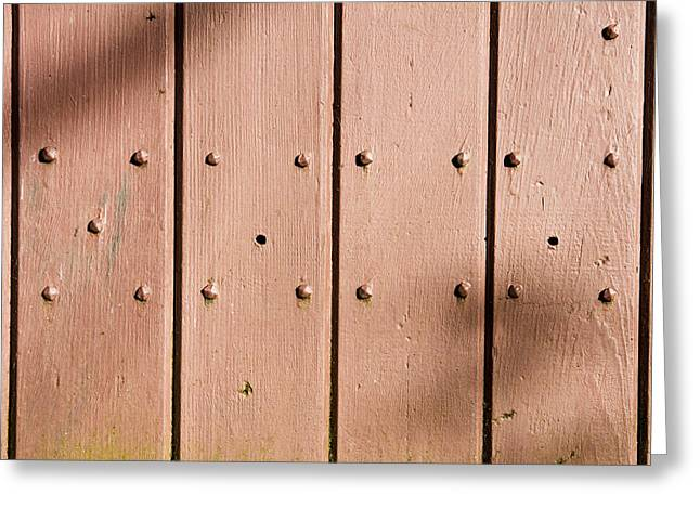 Shed Photographs Greeting Cards - Brown painted wood Greeting Card by Tom Gowanlock