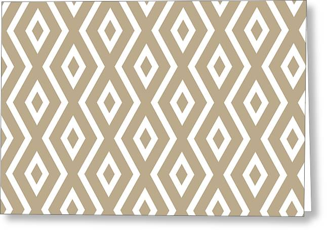 Bedroom Art Greeting Cards - Brown Pattern Greeting Card by Christina Rollo