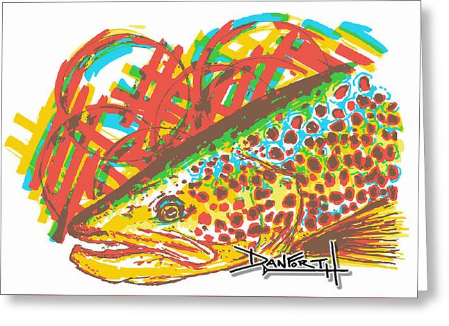 Florida Gators Mixed Media Greeting Cards - Brown Trout Greeting Card by David Danforth