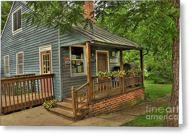 Rockbridge County Greeting Cards - Brownsburg Post Office Greeting Card by Todd Hostetter