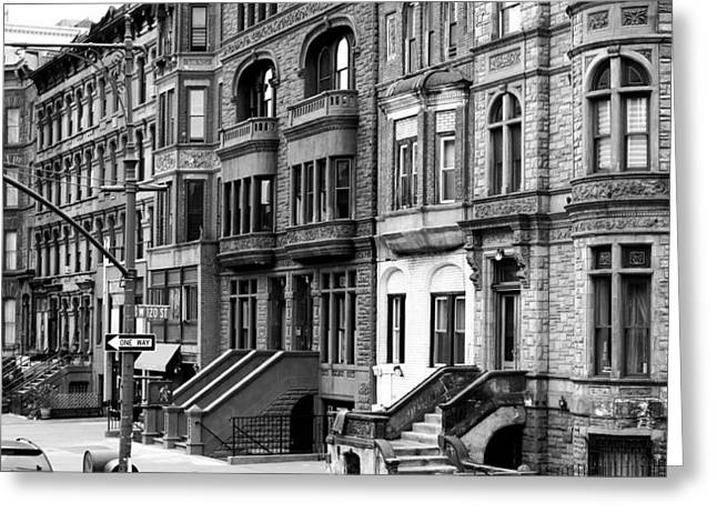 New York City Fire Escapes Greeting Cards - Brownstone Greeting Card by Darren Martin