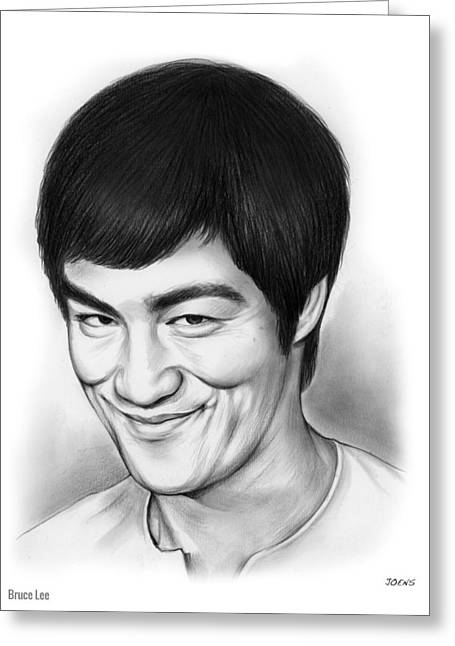 Bruce Lee Greeting Card by Greg Joens