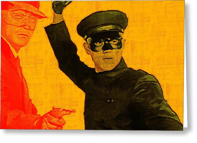 Bruce Lee Kato And The Green Hornet - Square Greeting Card by Wingsdomain Art and Photography