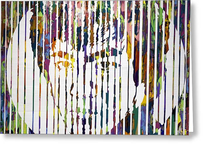 Chromatic Paintings Greeting Cards - Bruce Lee Greeting Card by Sean Ward