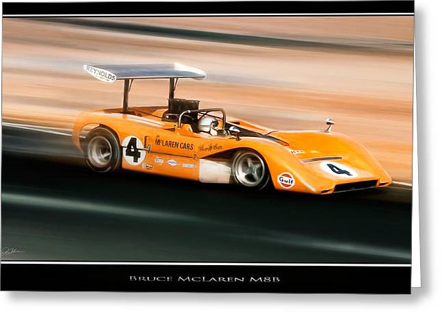 Bruce Mclaren M8b Greeting Card by Peter Chilelli