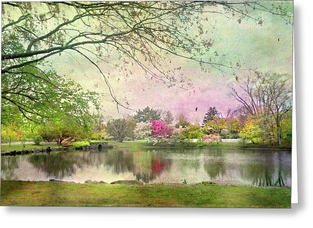 Bruce Park Pond Greeting Card by Diana Angstadt