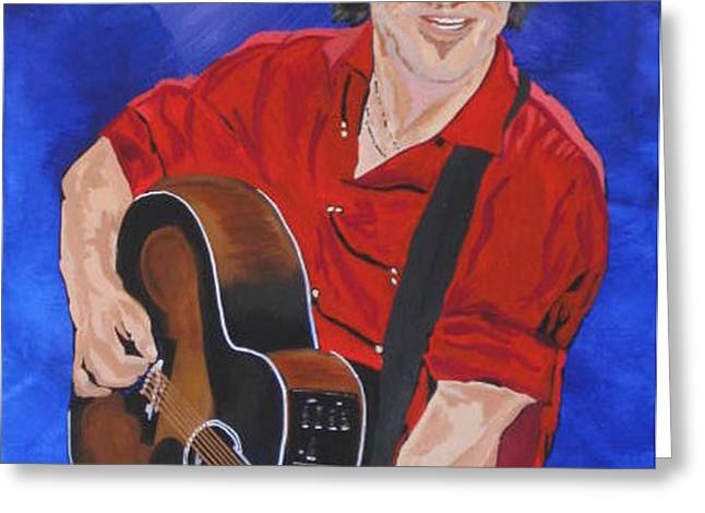 Bruce Springsteen-An American Boy Greeting Card by Bill Manson
