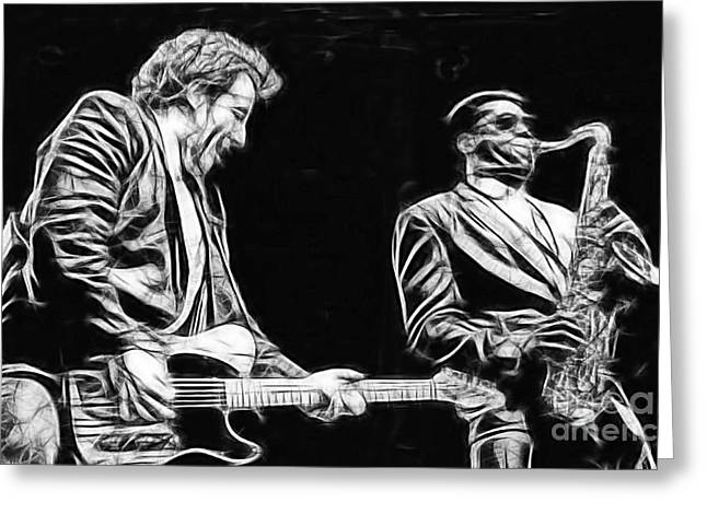 Bruce Springsteen Art Prints Greeting Cards - Bruce Springsteen Clarence Clemons Collection Greeting Card by Marvin Blaine